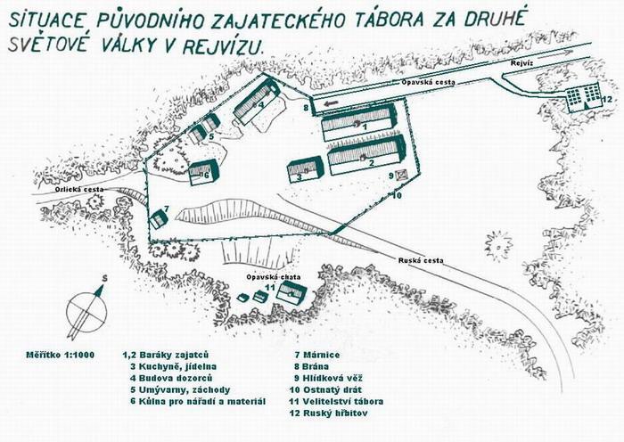 Схема лагеря военнопленных в